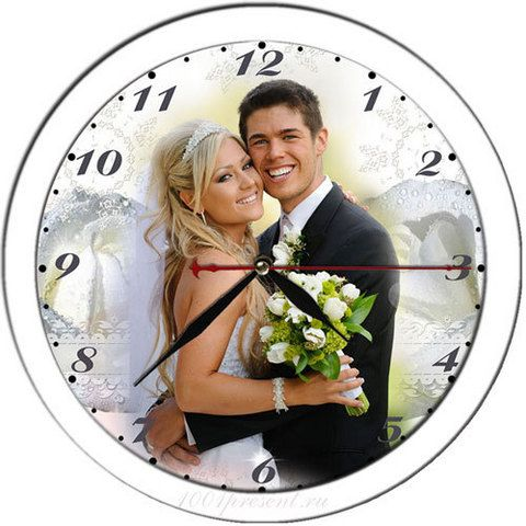 Часы с фотографией настенные